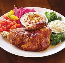Half Rotisserie Chicken Plate