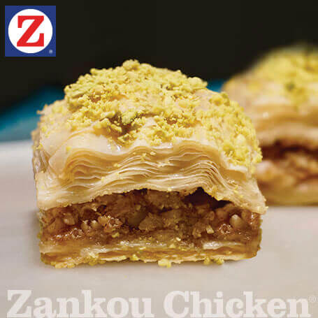 Close-up of baklava dessert