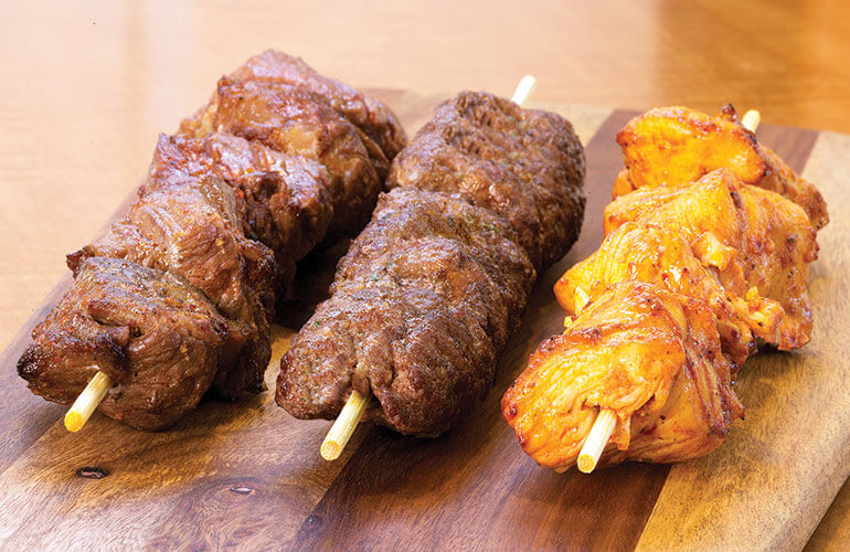 menu options - Zankou: Kabob Skewers