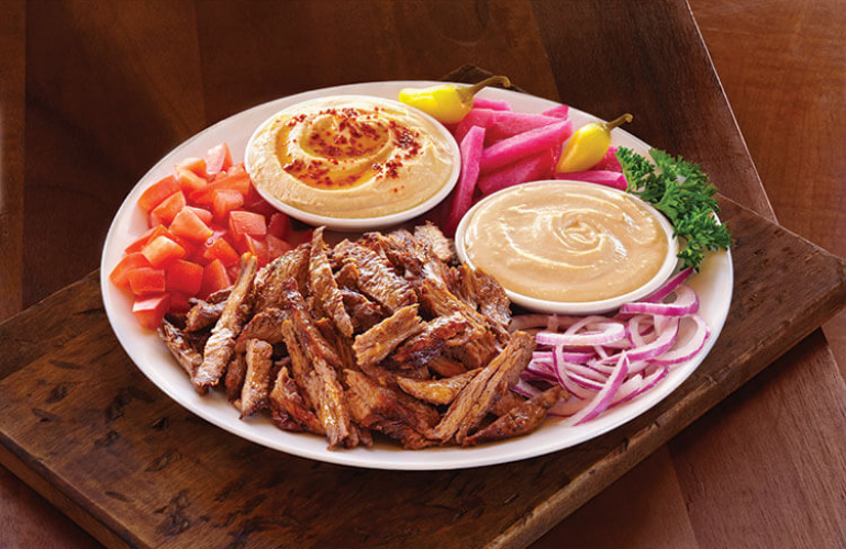 menu options - Zankou: Shawerma Plate