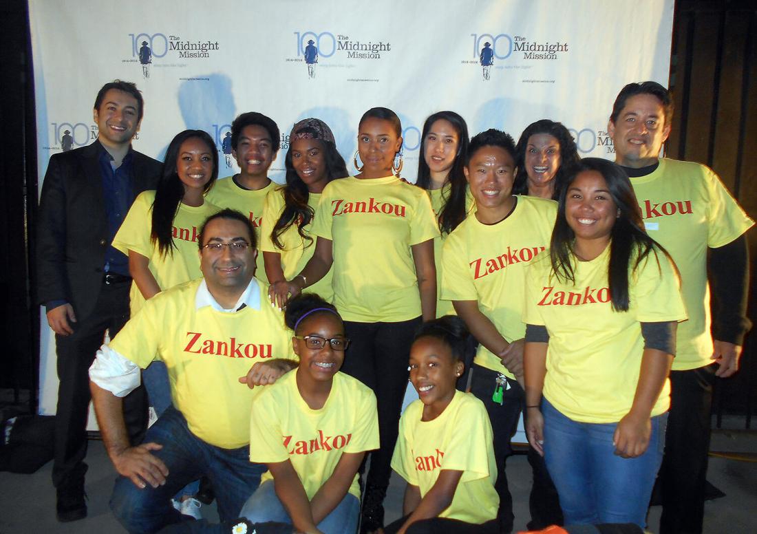 Zankou Chicken working with Midnight Mission group photo
