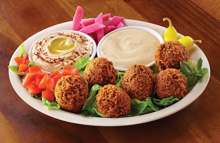 menu options - Zankou: Falafel Plate