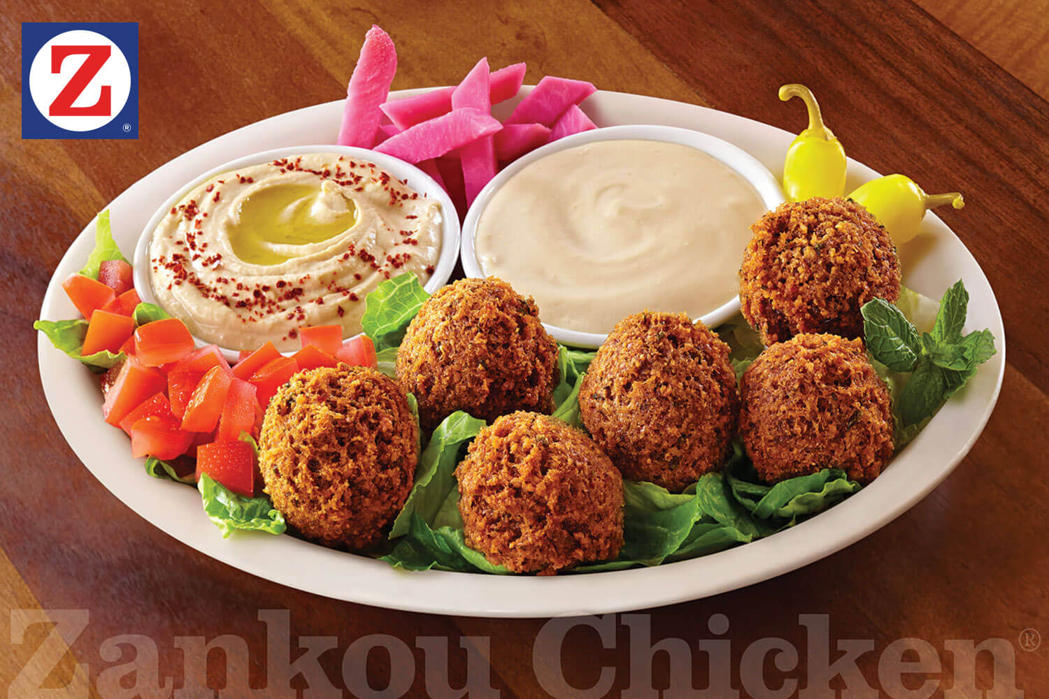 Falafel plate with sides