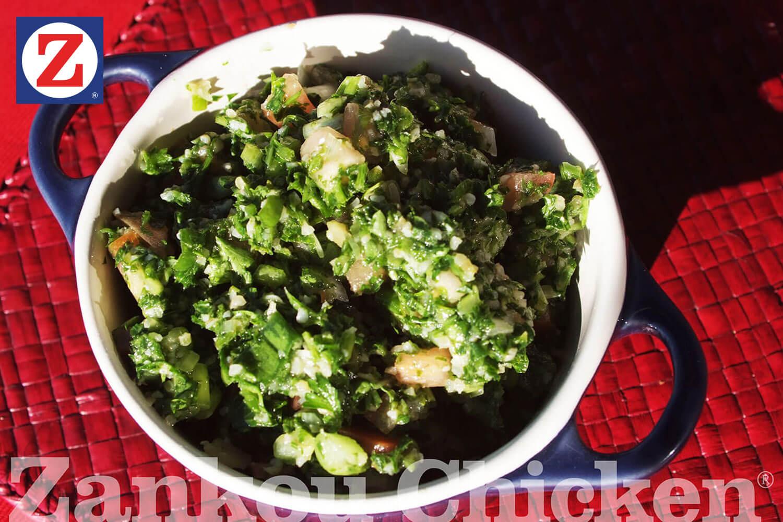 Tabbouleh salad in the sun