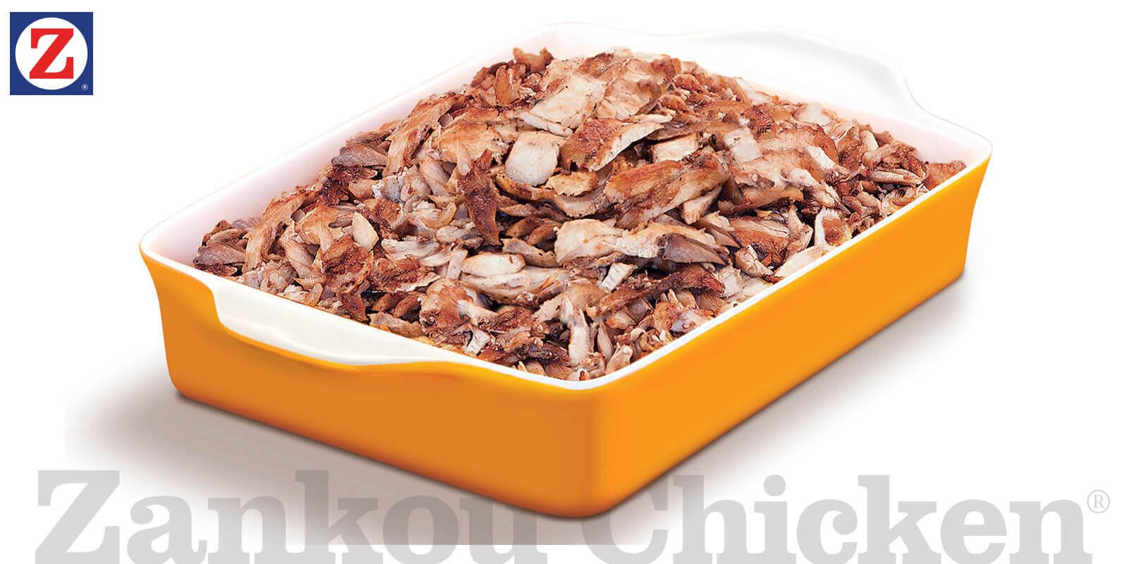 Catering tray of chicken tarna
