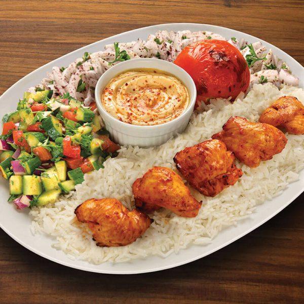 14. Chicken Kabob Plate
